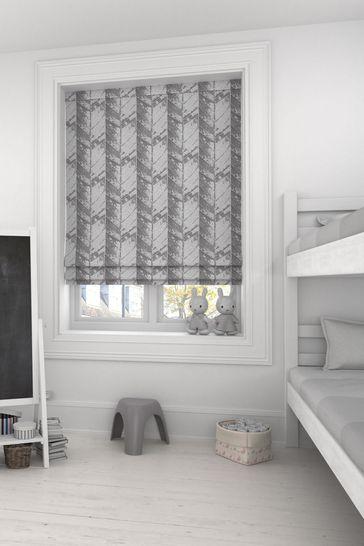 Hampson Graphite Grey Made To Measure Roman Blind
