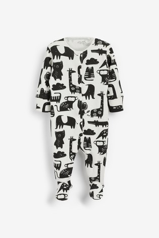 3 Pack Print Sleepsuits (0mths-2yrs)