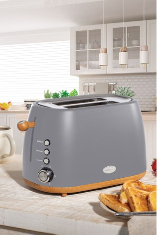 Daewoo Skandik Wooden Trim 2 Slot Toaster