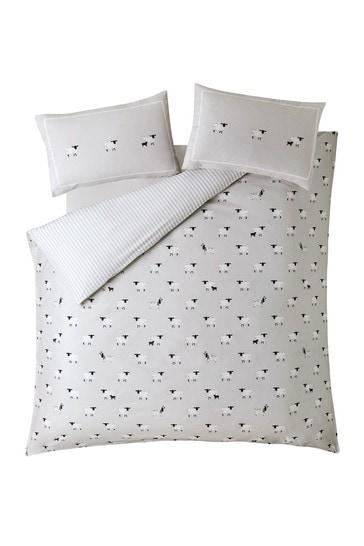 Sophie Allport Sheep Cotton Duvet Cover And Pillowcase Set