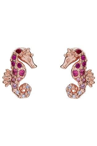 Ted Baker Seapra Seahorse Crystal Ombre Stud Earrings