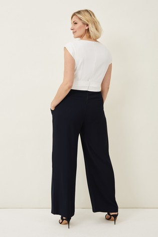 Phase Eight Cream Janey Jumpsuit