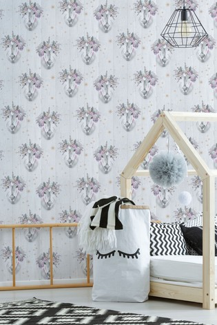 Fresco Unicorn Wallpaper by Art For The Home