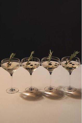 Set of 4 Mikasa Cheers Champagne Saucer