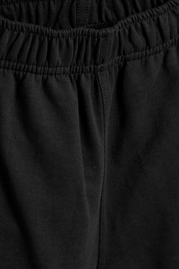 Black Jersey Shorts (3-16yrs)