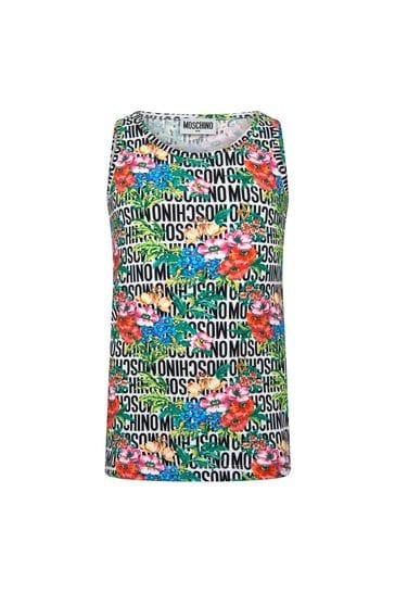 Girls Black Cotton Sleeveless T-Shirt