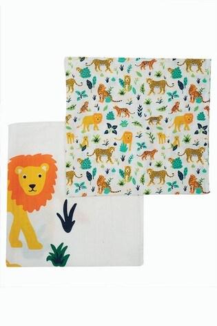 Frugi Organic Cotton 2 Pack Muslins - Lion