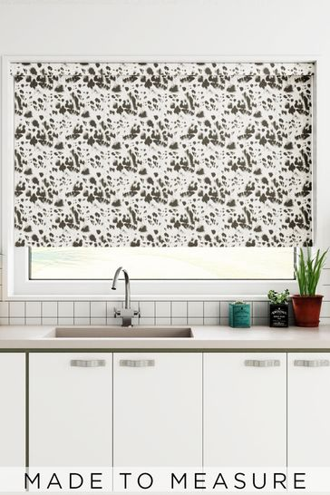 Leopard Charcoal Grey Made To Measure Roller Blind
