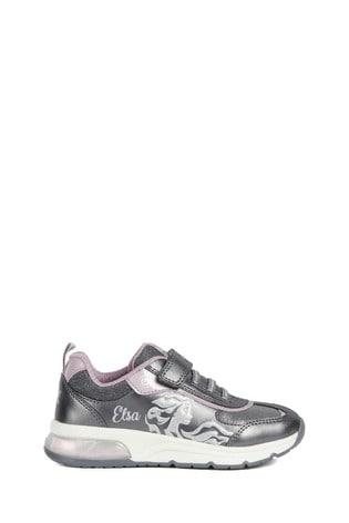 Geox Junior Girl's Spaceclub Silver/Lilac Sneakers