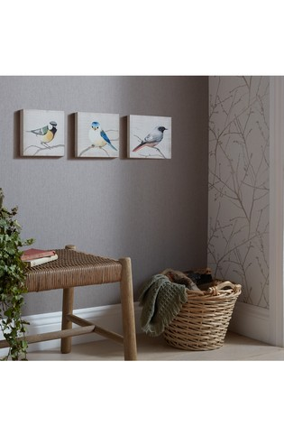 Set of 3 Perched Birds Canvases by Art For The Home