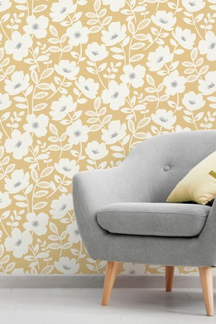 Scandi Flower Wallpaper by Urban Walls