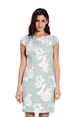 Adrianna Papell Soutache Lace Sheath Dress