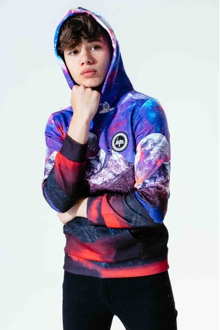 Hype. Blue Galactic Worlds Kids Pullover Hoody