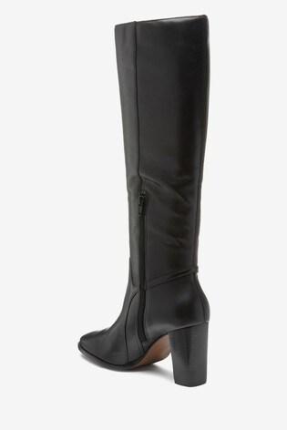 Black Signature Knee High Boots