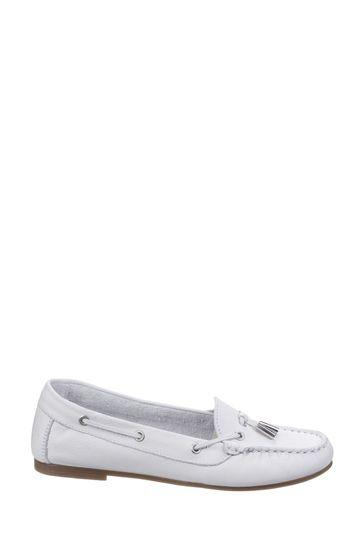 Riva White Ostuni Slip-On Tassle Shoes