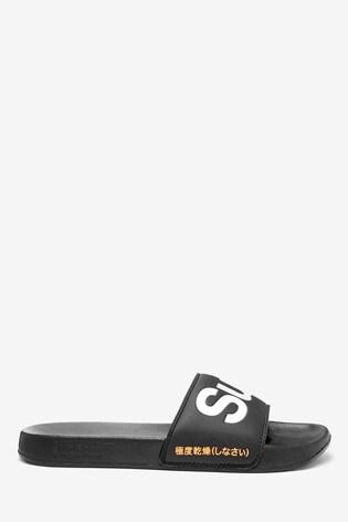 Superdry Black Classic Sliders