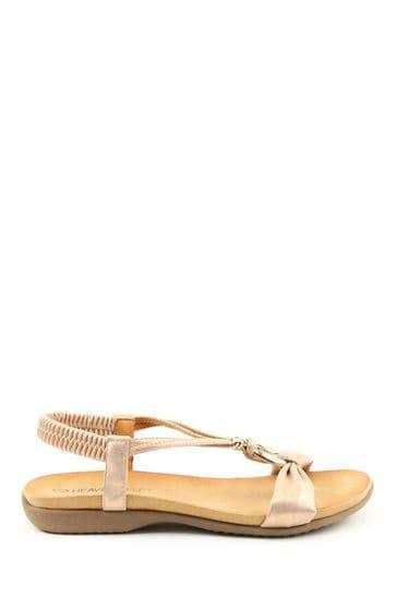 Heavenly Feet Campari Ladies Rose Gold Sandals