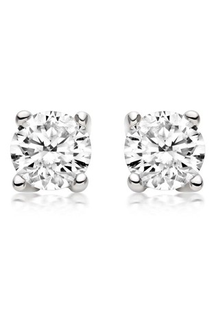 Beaverbrooks 18ct White Gold Diamond Stud Earrings