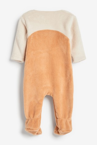 Tan Tiger Dress Up Fleece Sleepsuit (0mths-3yrs)