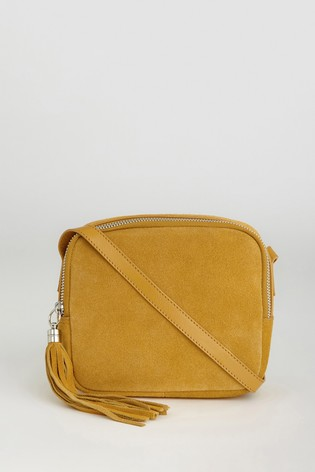 Warehouse Yellow Suede Camera Bag