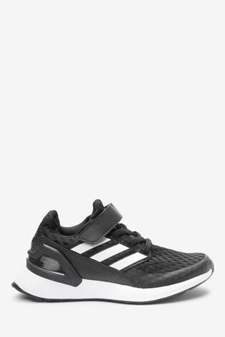 adidas Run Black RapidaRun Elite Junior Velcro Trainers
