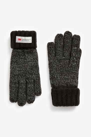 Charcoal Mixed Yarn Thinsulate™ Gloves (3-16yrs)