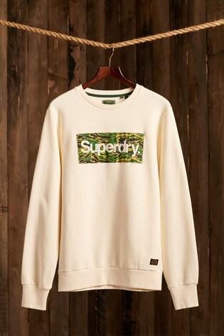 Superdry Classic Logo Canvas Crew Sweatshirt