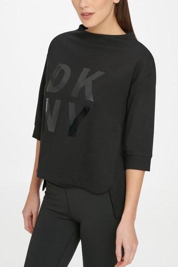 DKNY Black Essential Logo Sweater
