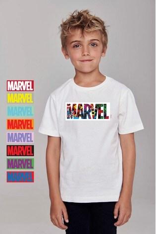Personalised Disney™ Marvel® Logo T-Shirt