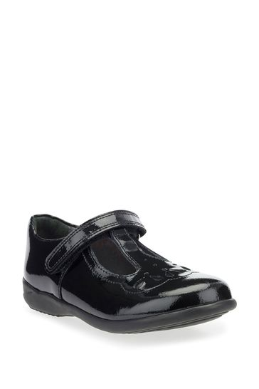 Start-Rite Poppy Black Patent Leather Wide Fit Shoes