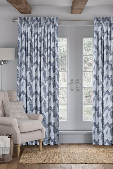 Sky Blue Marcia Made To Measure Curtains