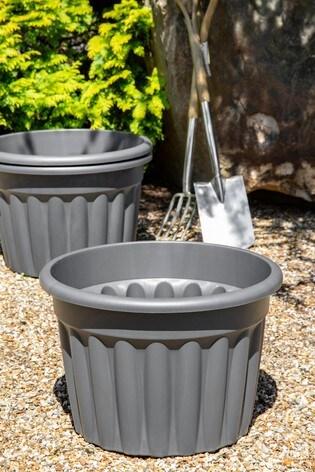 Set of 3 Wham Vista 60cm Plastic Round Planters