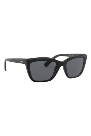 Ralph by Ralph Lauren Black Rectangle Sunglasses