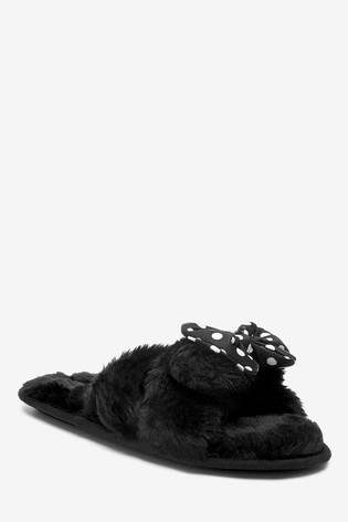 Black Minnie Mouse™ Slippers