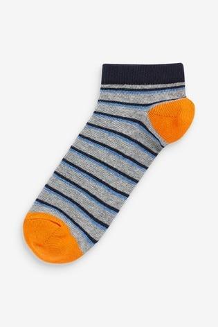Blue 7 Pack Cotton Rich Trainer Socks (Older)