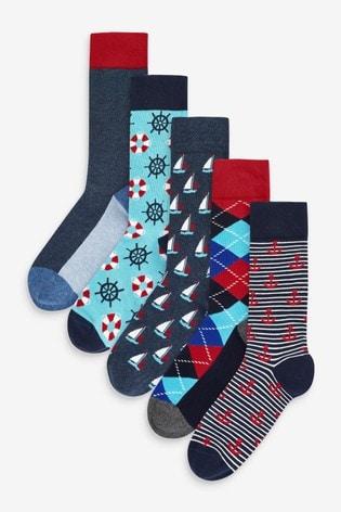 HS By Happy Socks Lifebuoy 5 Pack Socks