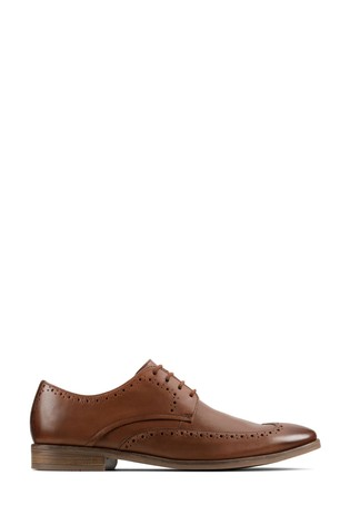 Clarks Tan Leather Stanford Limit Shoes