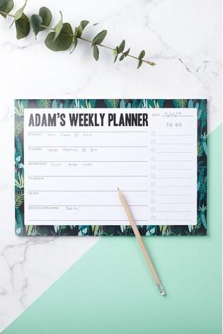 Personalised Weekly Planner by Oakdene Designs