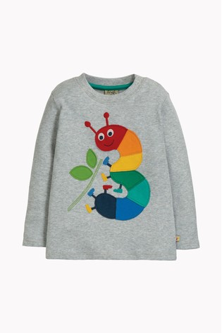 Frugi Organic Cotton Rainbow And Caterpillar Appliqué Birthday Top