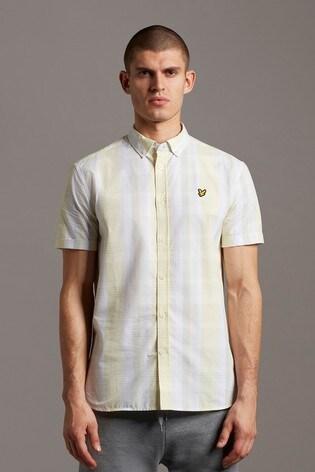 Lyle & Scott Plus Size Check Short Sleeve Shirt
