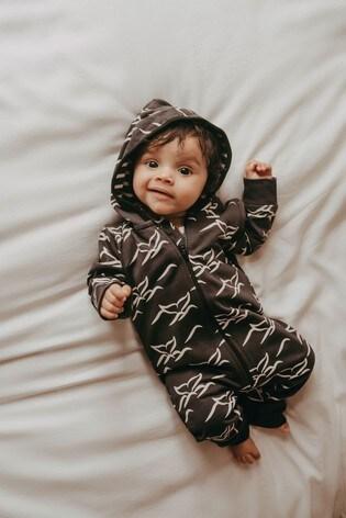 Turtledove London Black Whale Tails Organic Cotton Outersuit