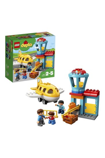 LEGO 10871 DUPLO My Town Airport Building Set With Airplane