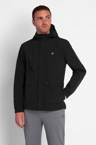 Lyle & Scott Jet Black Hooded Pocket Jacket