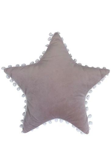 Furn Little Furn Pink Star Pom Pom Cushion