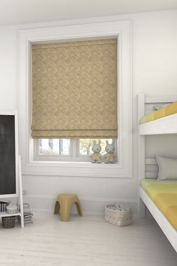 Bronte Pistachio Gold Made To Measure Roman Blind