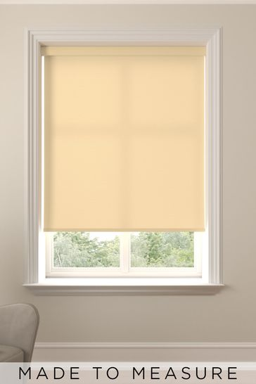 Asher Butter Yellow Made To Measure Light Filtering Roller Blind