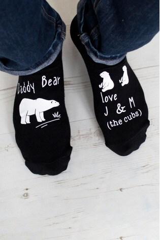 Personalised Daddy Bear Socks by Solesmith