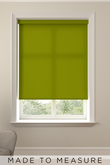 Asher Lime Green Made To Measure Light Filtering Roller Blind