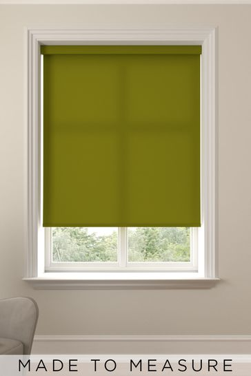 Asher Asparagus Green Made To Measure Light Filtering Roller Blind