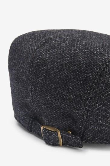 Dark Grey Flat Cap
